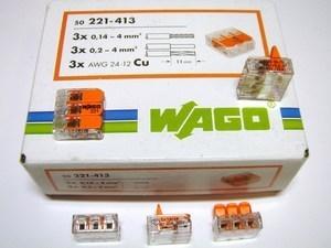 <p> Klemmid Wago 3 x 0,14 - 4 mm² (avatavad), 221-413</p>