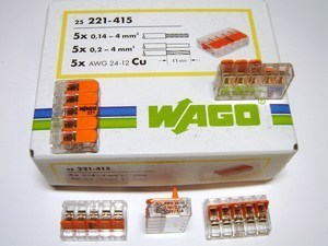 <p> Klemmid Wago 5 x 0,14 - 4 mm² (avatavad), 221-415</p>