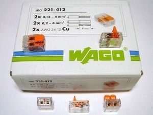 <p> Klemmid Wago 2 x 0,14 - 4 mm² (avatavad), 221-412</p>
