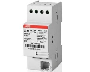 <p> Moodulelektriarvestite ABB näitude kauglugemissüsteem Ethernet M-Bus Adapter, CEM 05100, 2CMA137121R1000</p>