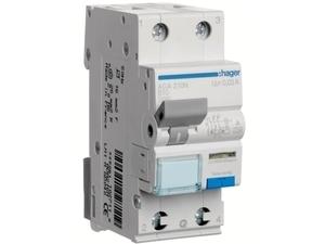 <p> Aвтомат тока утечки с автоматическим выключателем 1-фазный, B 10A, 30мA(0,03A), Hager, ADA210N, 102709</p>