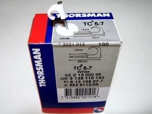 <p> Kaablikinnitus naelklambrid TC 5-7, Thorsman, 2021012</p>