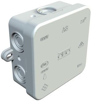 <p> Pinnapealne harukarp 75x75x36 mm, A8 VDE, OBO, hall, 2000016</p>