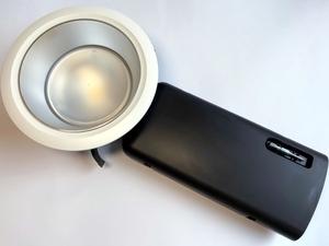 LED  ripplaevalgusti 11 W, D70-RF155 LED 1100 DALI 840 LI SM/WH TRIM, Glamox, D70514762