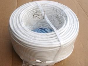 Halogeenivaba  TV-antenni kaabel RG6U, Yota, valge, täisvask kesk soonega