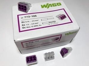 <p> Klemmid Wago 6 x 0,75-2,5 mm², 773-106</p>