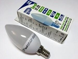 LED lamp 5,5 W, Pled, C37, Pluvo