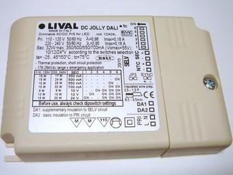 "<p> Elektrooniline <span style=""color: #ff0000"">LED</span> trafo 9-32W, 350-700mA, max. 55V, DC Jolly Dali, 122424L, Lival</p>"