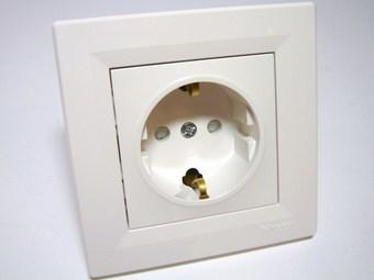 <p> Розетка скрытой установки Schneider Electric (серия - Asfora), EPH2900221</p>