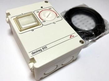 <p> Termostaat Devireg™ 610 (10А) 2300 W, 140F1080</p>