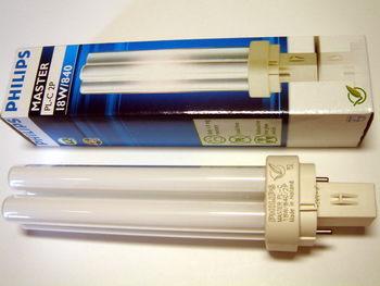"<p> Kompakt-luminofoorlamp 18 W, Master PL-C, 18W/840/G24d-2, <span style=""color:#ff0000;"">2-PIN</span>, Philips, 620934</p>"