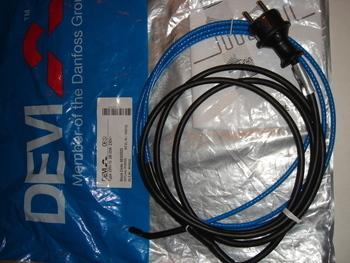 <p> Ostan toruküttekaablit Devi 20 W, 2 m, 230 V, DPH-10 W/m.</p>