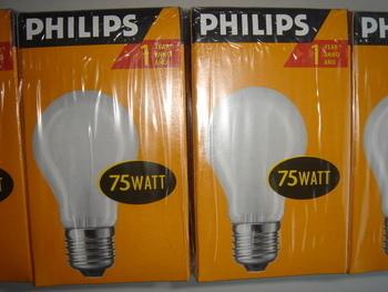 <p> Оstan hõõglampe 75 W, Philips, Osram, General Electric, Tungsram, Sylvania</p>
