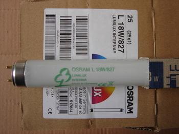 <p> Luminofoortoru 18 W, L18W/827, Osram Lumilux Interna, 517834</p>