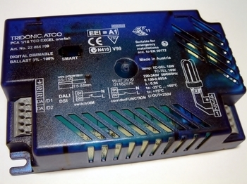 <p> Elektrooniline drossel 1x18 W, Tridonic, PCA 1/18 TCD Excel one4all, 22084709</p>