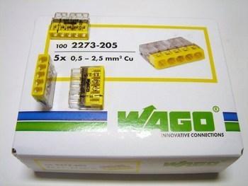 <p> Klemmid Wago 5 x 0,5-2,5 mm², 2273-205</p>