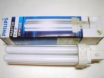 "<p> Kompakt-luminofoorlamp 18 W, Master PL-C, 18W/830/G24d-2, <span style=""color: #ff0000"">2-PIN</span>, Philips, 620910</p>"