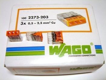 <p> Klemmid Wago 3 x 0,5-2,5 mm², 2273-203</p>