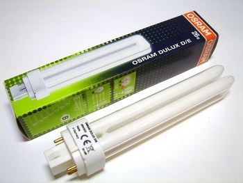 "<p> Kompakt-luminofoorlamp 26 W, Osram Dulux D/E, 26W/830/G24q-3, <span style=""color: #ff0000"">4-PIN</span>, 327235</p>"