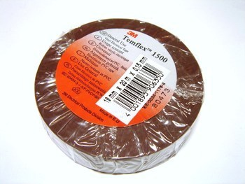 <p> Изолента 19ммx20м, коричневая, 3M, Temflex™1500</p>