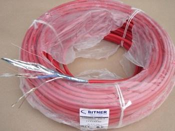 <p> Пожаростойкий кабель 2 x 0,8 + 0,8 мм², Bitner, HTKSHekw, FE180/PH90/E90</p>