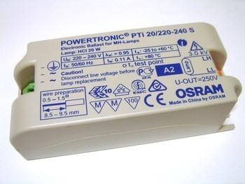 <p> Elektrooniline ballast 20 W, Osram, Powertronic® PTi 20/220-240 S, 353290</p>