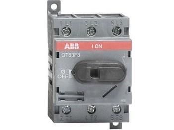 <p> Модульный поворотный выключатель 3-фазный 63A, OT63F3, ABB, 1SCA105332R1001</p>
