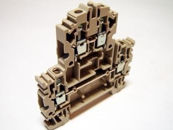 <p> Двухуровневая клемма 4 мм², серая, Weidmüller, WDK 4N, 1041900000</p>