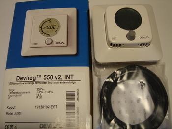 <p> Ostan termostaate Devireg™ 550 (16А) 3600 W.</p>