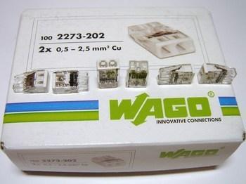 <p> Клеммы Wago 2 x 0,5-2,5 мм², 2273-202</p>