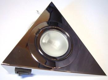 <p> Треугольный галогеновый мебельный светильник 12В, Kanlux, Zepo LFD-T02/S-C, цвет хром, 04385</p>