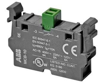 <p> Kontaktiplokk 1NO, MCB-10, ABB, 1SFA611610R1001</p>