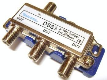 <p> TV signaali jagaja 1 sisse - 3 välja, DSS3, Teleste</p>