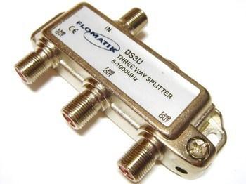 <p> TV signaali jagaja 1 sisse - 3 välja 7,2dB, DS3U, Flomatik</p>
