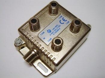 <p> TV signaali jagaja 1 sisse - 4 välja 7,5dB, LAJ 407L</p>