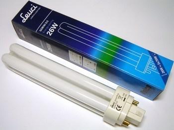 "<p> Kompakt-luminofoorlamp 26 W, Leuci Gemini D/E, 26W/830/G24q-3, <span style=""color: #ff0000"">4-PIN</span>, 490172.0101</p>"