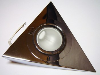 <p> Треугольный галогеновый мебельный светильник 12В, Kanlux, Zepo LFD-T02-C, цвет хром, 04380</p>