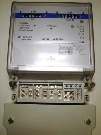<p> Elektriarvesti 3-faasiline 2-tariifne 5-100A, TK420iNNs, Enermet</p>