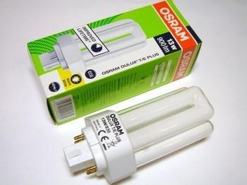 "<p> Kompakt-luminofoorlamp 13 W, Osram Dulux T/E Plus 13W/830/GX24q-1, <span style=""color: #ff0000"">4-PIN</span>, 446981</p>"