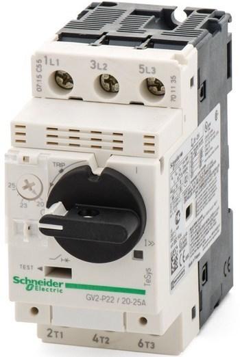 <p> Mootorikaitselüliti 3-faasiline 20-25A, Schneider Electric, GV2P22, 021353</p>