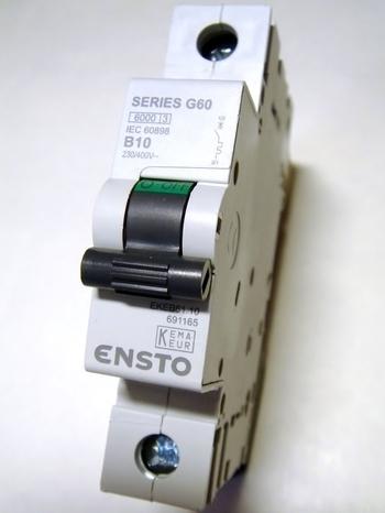 <p> Moodulkaitselülitid 1-faasilised, B 10A, Ensto G60, EKEB61.10, 691165</p>
