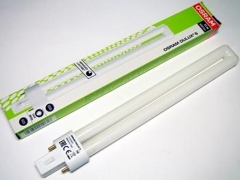 <p> Kompakt-luminofoorlamp 11 W, Osram Dulux® S, 11W/840/G23, 010618</p>