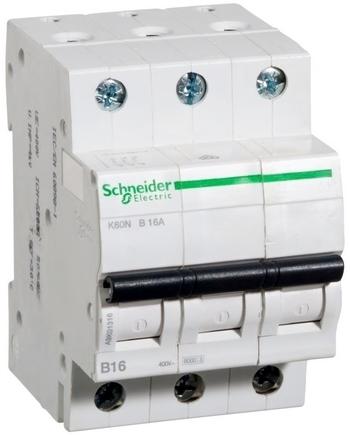 <p> Moodulkaitselüliti 3-faasiline, B 16A, Schneider Electric, K60N, A9K01316, 8824317</p>