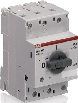 <p> Aвтомат защиты электродвигателя 3-фазный 16A, ABB, MO325-16, 1SAM160000R1012</p>