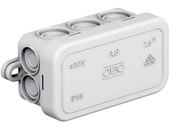 <p> Наружная соединительная коробка 80x43x34 мм, A6, OBO, 2001055</p>