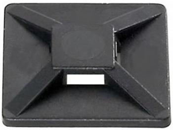 <p> Kaablisideme alus (liimankur) 25x25mm liimiga, must (UV-kindel)</p>