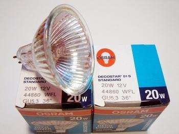 <p> Halogeenlamp 20W, 12V, 38°, Osram Decostar 51, 41860 WFL, 012629</p>