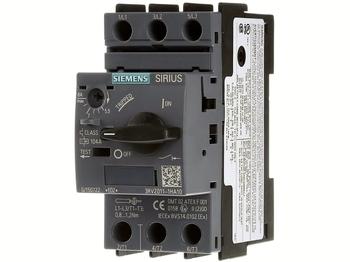 <p> Mootorikaitselüliti 3-faasiline 5,5-8A, Siemens, 3RV2011-1HA10</p>