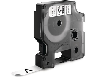 <p> Лента принтерная для маркировки 12мм х 7м, белая лента/черный шрифт, Dymo D1, 45013, S0720530</p>