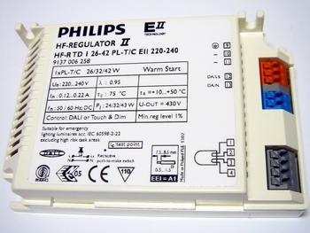 <p> Elektrooniline ballast 1x26/32/42 W, Philips, HF-Regulator II, HF-R TD 1 26-42 PL-T/C EII 220-240V, 9137006258, 913401</p>